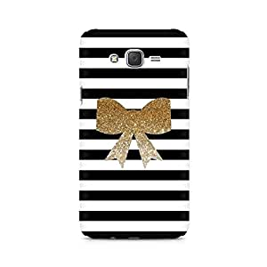 Ebby Golden Bow Premium Printed Case For Samsung J7