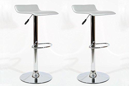 2x-Design-Barhocker-silber-hhenverstellbar-360-drehbar-Sunny