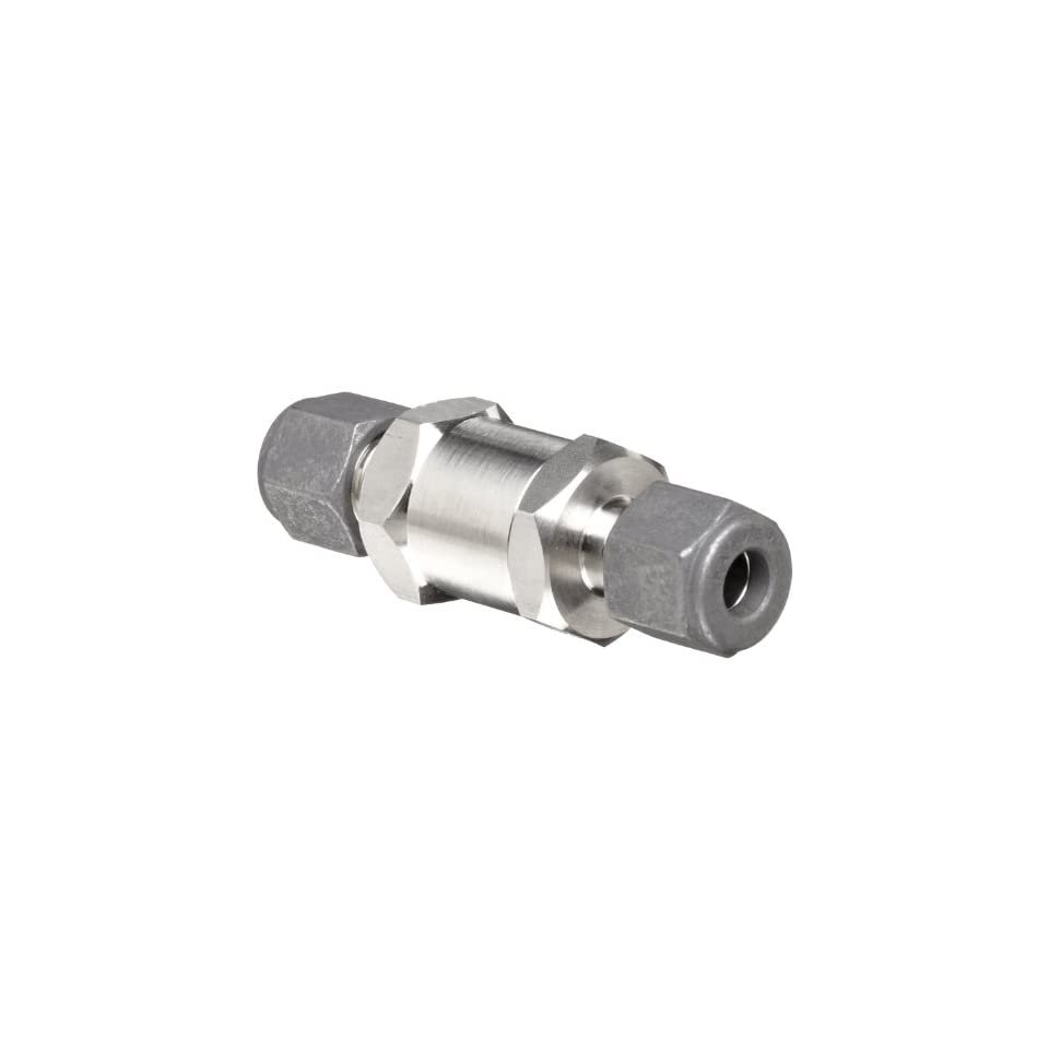Parker F Series Stainless Steel 316 Instrumentation Filter, Inline, 50 Micron, 3/8 CPI Compression Fitting