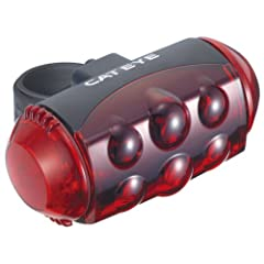 Cateye TL-LD1100 LED Bicycle Tail and Safety Light (Red) by CATEYE