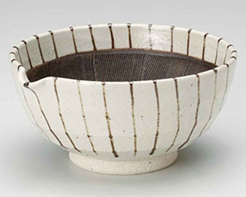 Sabi Tokusa 16cm Mortar Beige Ceramic Made in Japan