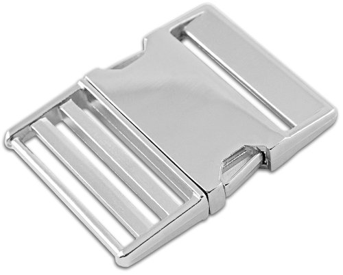 1 - 2 Inch Metal Side Release Buckles (Silver Side Release Buckle compare prices)