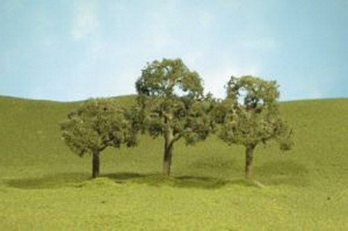 Bachmann Trains 2- 1/2 inches 3- 1/2 inches  Walnut Trees 3 Per Box - 1