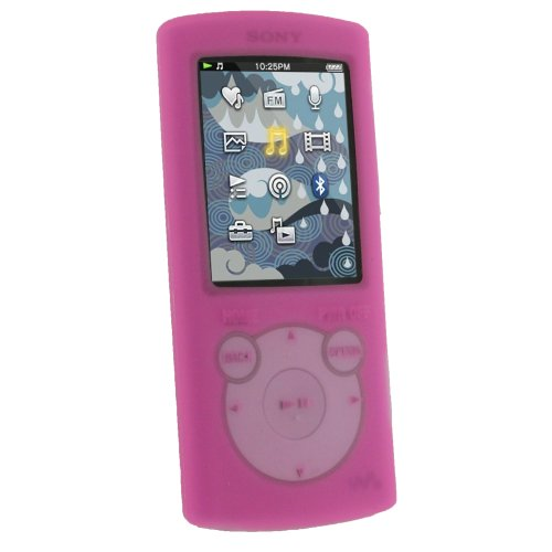 iGadgitz Pink Silicone Skin Case Cover for Sony Walkman NWZ S765 NWZ