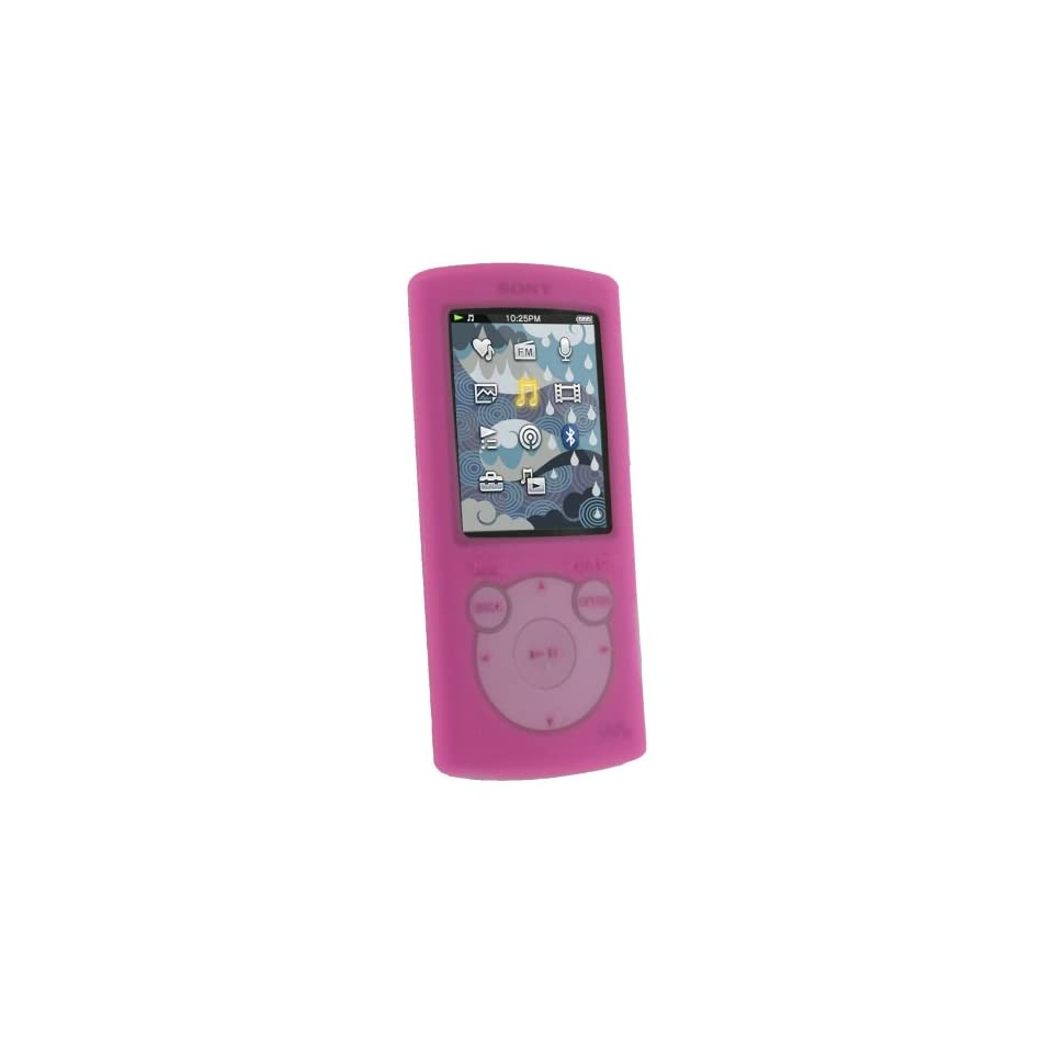 iGadgitz Pink Silicone Skin Case Cover for Sony Walkman NWZ S765 NWZ