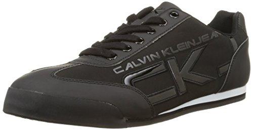 Calvin Klein Cale Matte Smooth/Patent, Sneaker basse uomo, colore nero (nero), taglia 43
