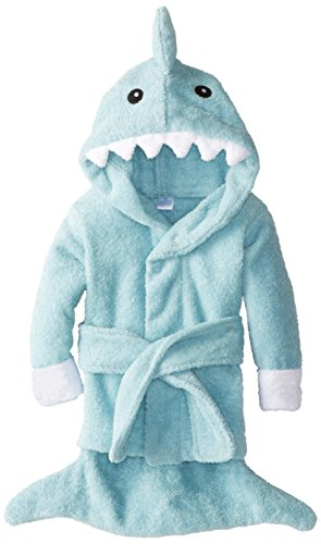 Baby Aspen Let The Fin Begin Terry Shark Robe, Blue, 0-9 Months