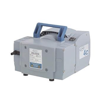 "BrandTech 731200 PTFE ME4C NT Dry Chemistry Diaphragm Pump with CEE Plug, 230V Power Supply, 2.30cfm Pumping Speed, 9.57"" Width x 7.80"" Height x 10"" Depth"