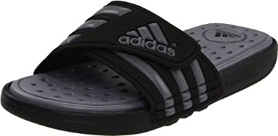 adidas Men's Adissage SC Sandal,Black/Medium Lead,17 D US