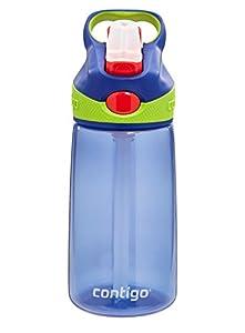 Contigo Auto Spout Kids Striker Water Bottle, 14-Ounce, Cobalt