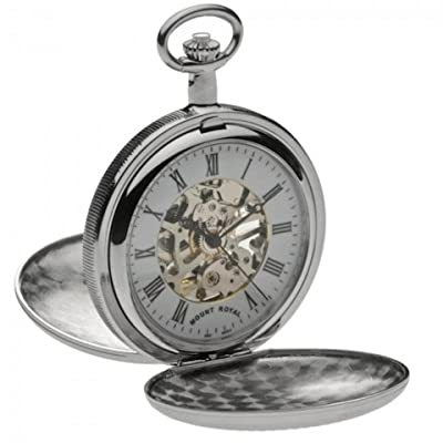 Mount Royal Pocket Watch B22 Chrome Plated Double Hunter