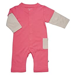 Babysoy Layered One Piece (Baby) - Pink Lemonade-3-6 Months