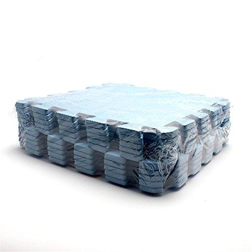 10 Stück Baby Puzzle Spielen Spielzeug Bodenpuzzlematten Verriegelung Schaum Krabbeln Matte Naht Decken Blau