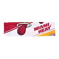 Miami Heat Stretch Patterned Headband (Please see item detail in description) by W2B