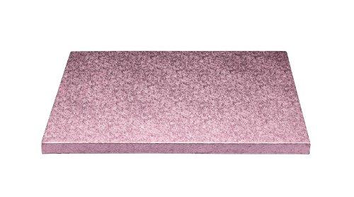 Sweetly Does It Plateau de présentation carré pour gâteau Rose 25 cm