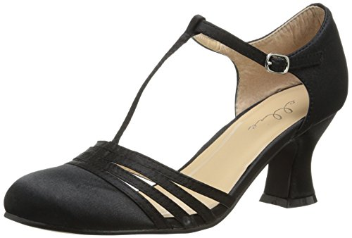 Ellie Shoes Women's 254 Lucille Dress Sandal, Black, 7 M US