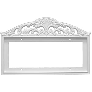 Filigree frame for house address number ceramic tile for House number frames