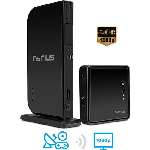 Nyrius ARIES Home HDMI Digital Wireless Transmitter & Receiver for HD 1080p Video Streaming, Cable box, Satellite, Bluray, DVD, PS3,...
