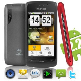 Phoenix - Android 2.2 Smartphone with 3.6 Inch Touchscreen (Dual SIM, WiFi)