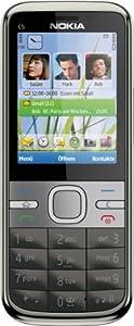Nokia C5 Smartphone [neue Version] (5,6 cm (2,2 Zoll) Display, Bluetooth, 5 Megapixel Kamera) grau