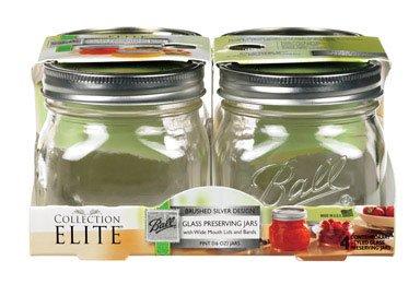 Jarden Home Brands 4Pk 16Oz Platinum Jars 1440061180 Canning Jars