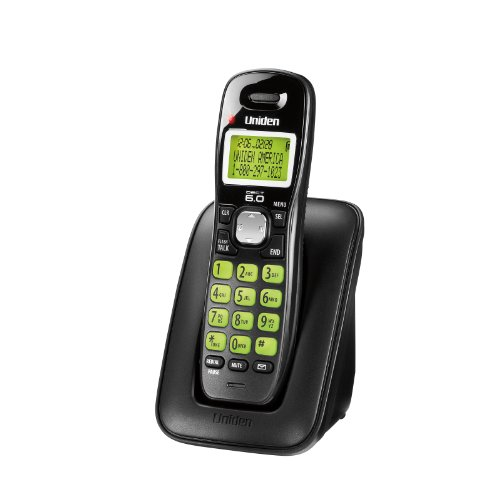 Uniden DECT 6.0 Cordless Phone with Caller ID and Call Waiting - Black (D1364BK)