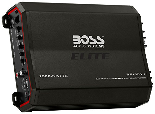 Boss Audio BE1500.1 1500W Elite Series Class AB Monoblock Amplifier with Remote Bass Knob (Bass Knob Boss compare prices)