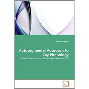 Amazon.com: Autosegmental Approach to Zay Phonology: Syllable ...