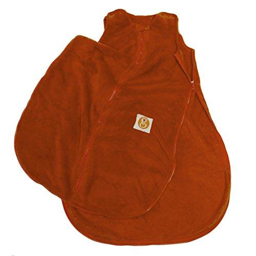 Gunamuna Fleece Gunapod Wearable Baby Sleepsack, Carrot, Medium front-1067728