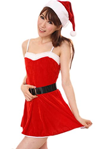 Pink Queen Womens/Girls Sexy Miss Santa Claus Costume Dress Christmas Outfits