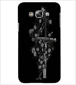 PrintDhaba Cross D-1996 Back Case Cover for SAMSUNG GALAXY E7 (Multi-Coloured)