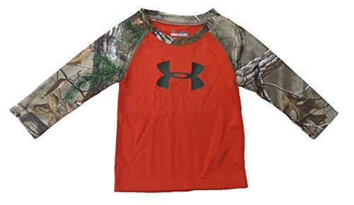 Under Armour Boy'S Big Logo Shirt With Camo Sleeves (5)