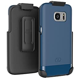 Encased GS7SS/H03 Ultra-thin Slim Shield Case with Belt Clip Holster for Samsung Galaxy S7 - Deep Blue