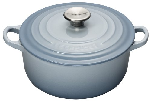 Le Creuset 22 cm Cast Iron Round Casserole, Coastal Blue