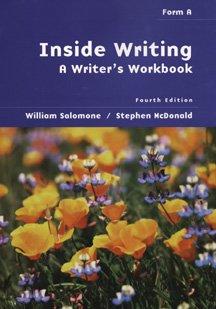 Inside Writing: A Writer's Workbook: Form a