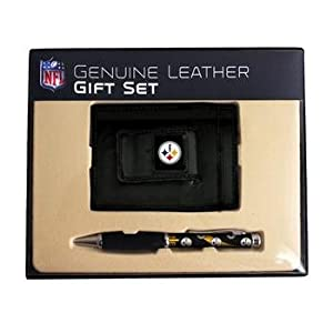 Pittsburgh Steelers NFL Leather Bifold Wallet & Pen Gift Set