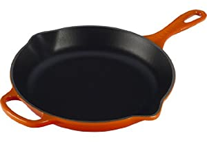 Le Creuset Signature Iron Handle Skillet, 10-1/4-Inch, Flame