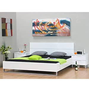 doppelbett toronto 180x200 ehebett lattenrost bett hochglanz wei lackiert k che. Black Bedroom Furniture Sets. Home Design Ideas