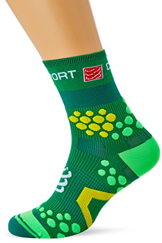 Compressport Racing Socks V2.1 Trail Hi Calzino Trail da Gara e Allenamento, Verde, T3
