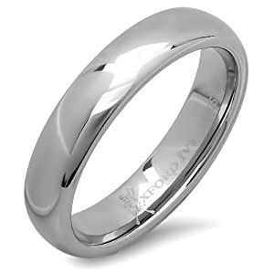 5mm Mens Plain Comfort Fit Tungsten Wedding Band ( Available Ring Sizes 7-12) sz9