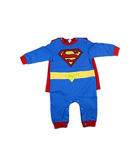NEW Kids Superman Cosply 2015 Baby Boys Onepiece Jumpsuit Long Sleeve Clothes