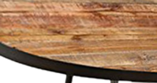 Emerald Home T140-0 Berkeley Oval Cocktail Table, Rustic Brown