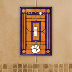 Clemson Tigers - NCAA Art Glass Single Switch Plate Cover
