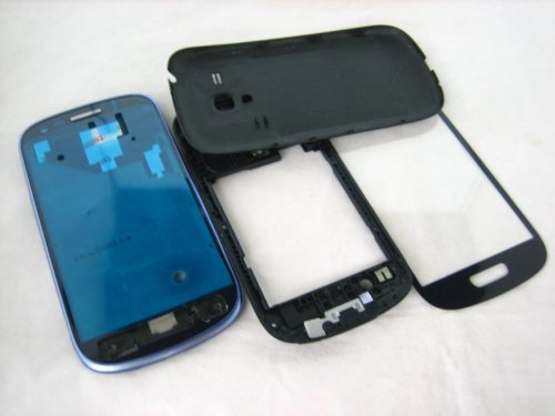 For Samsung Galaxy S3 SIII mini GT-i8190 Blue ~ Full Cover Housing+Glass Screen ~ Mobile Phone Repair Part Replacement (Samsung S3 Mini Replacement compare prices)
