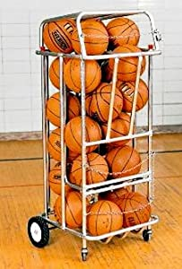 Roll-A-Bout 24-Ball Basketball Rack by TC Sports