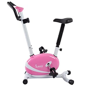 Sunny Health & Fitness Pink Magnetic Upright Exercise Bike