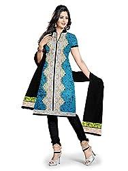 BAPUJI PRINT - WOMEN'S COTTON UNSTITCH DRESS MATERIALS - FULKI-110