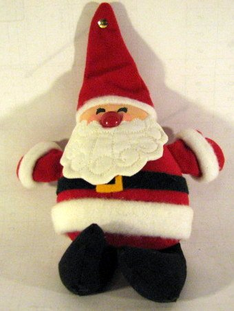 1982 Hallmark Santa Claus Christmas Bean Bag Plush - 1