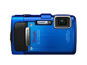 Olympus Stylus TG-830 iHS Digital Camera with 5x Optical Zoom and 3-Inch LCD (Blue)