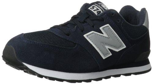New Balance Kl574 Grade Running Shoe (Big Kid),Navy/Silver,3.5 M Us Big Kid front-1050998